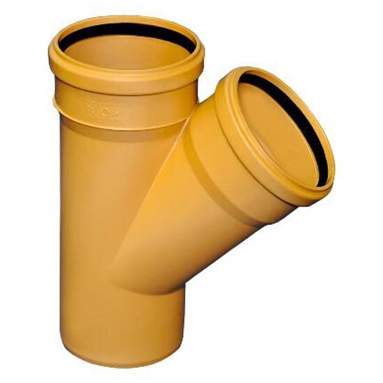 Trójnik PVC zew. KL.N 160X110/45° redukcyjny Wavin