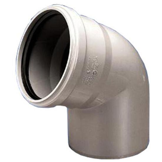 Kolano kanalizacyjne PP wew. 32x67° białe Wavin