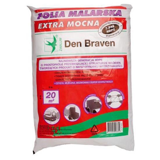 Folia malarska extra mocna 4mx5m Den Braven