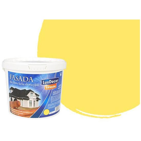 Farba zewnętrzna FASADA elewacyjna 10l żółta LUXDECOR