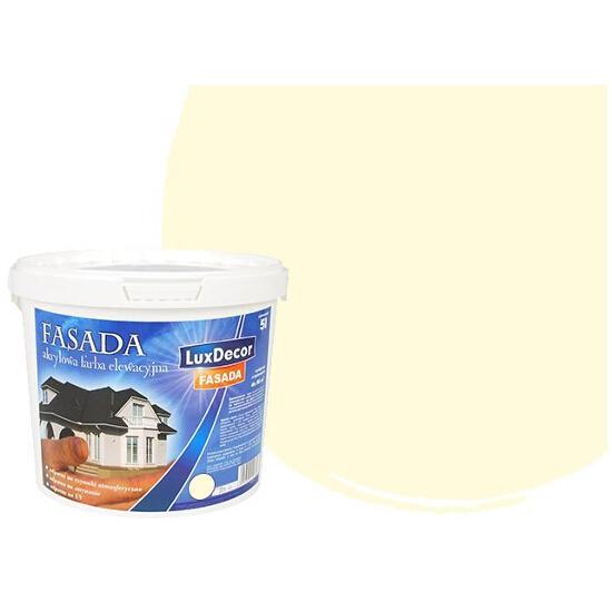 Farba zewnętrzna FASADA akrylowa 10l żółta jasna LUXDECOR