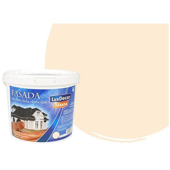 Farba zewnętrzna FASADA akrylowa 10l beżowa LUXDECOR
