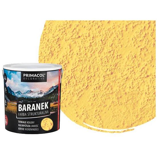 """Farba strukturalna """"baranek"""" 5l słoneczny PRIMACOL"""