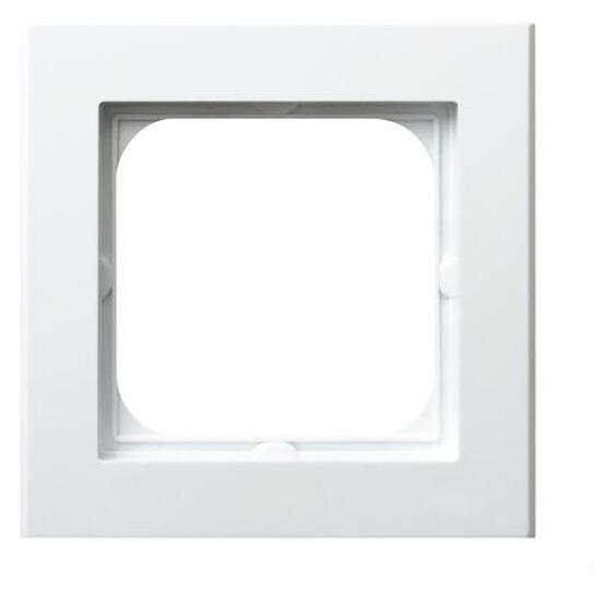 Ramka SONATA pojedyncza do łączników IP44 biały Ospel
