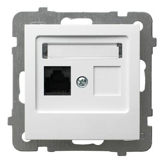 Gniazdo modułowe AS komputerowe pojedyncze kat. 5e FOREX biały Ospel