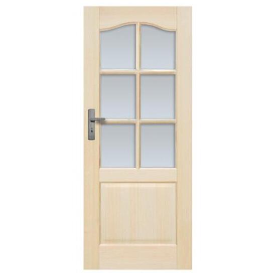 Drzwi sosnowe Tryplet przeszklone (6 szyb) 80 lewe Radex
