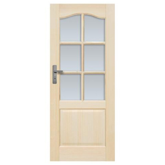 Drzwi sosnowe Tryplet przeszklone (6 szyb) 80 prawe Radex
