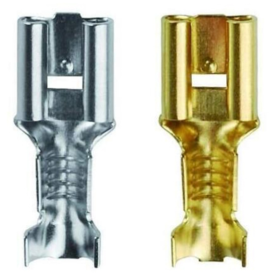 Końcówka konektorowa żeńska cynowana MS 6,3-2SN 100szt kablowa Erko