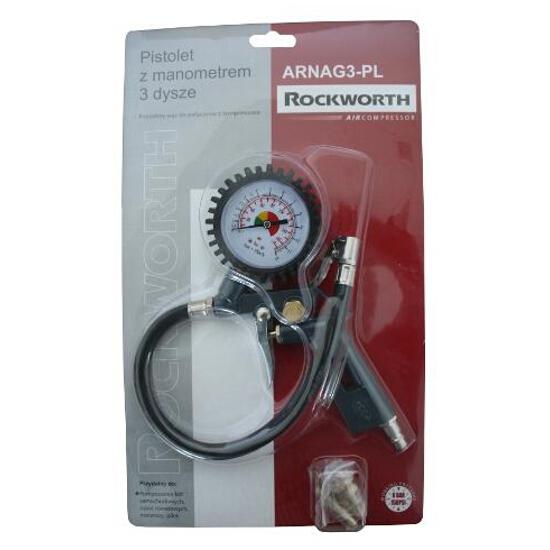 Pistolet do pompowania kół pneumatyczny 3 dysze, ARNAG3 Rockworth