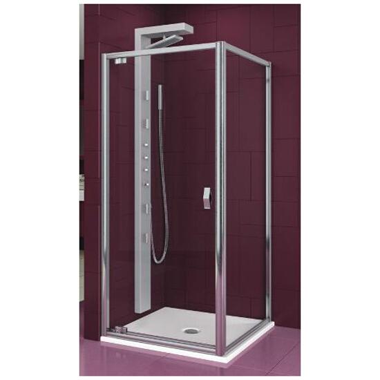 Drzwi prysznicowe SALGADO 80 uchylne profil chrom, szkło przejrzyste 103-06075 Aquaform