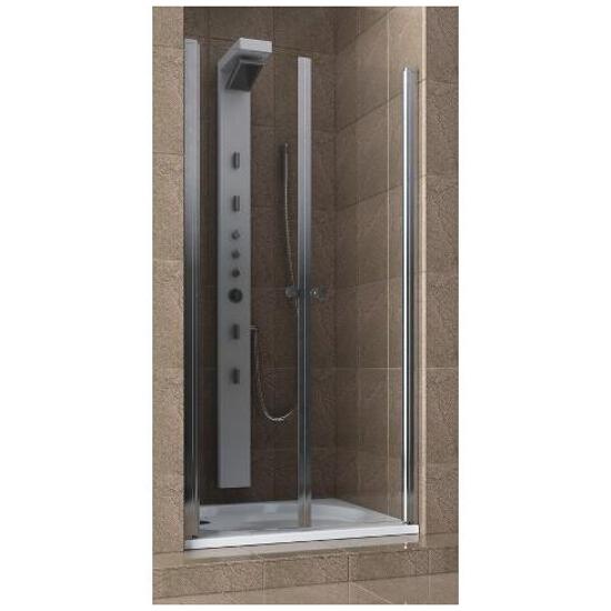 Drzwi prysznicowe SILVA 80 wnękowe wahadłowe 103-05552 Aquaform