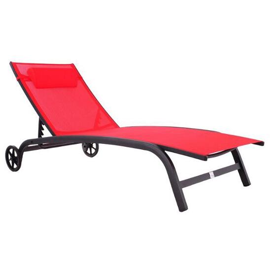 Leżak ogrodowy Nagua czerwony HE735487 Bazkar