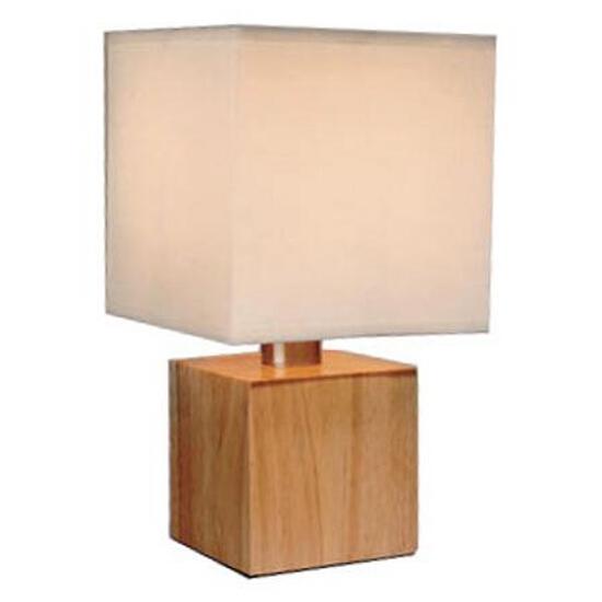 Lampa stołowa Asta max. 1x40W drewno biała Paulmann