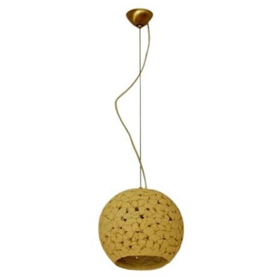 Lampa wisząca KULA 3/4 200mm jasny szamot ażurowy 1752 Cleoni