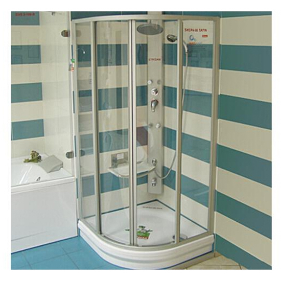 Kabina prysznicowa półokrągła SUPERNOVA SKCP4-80 szkło transparentne 31140U00Z1 Ravak