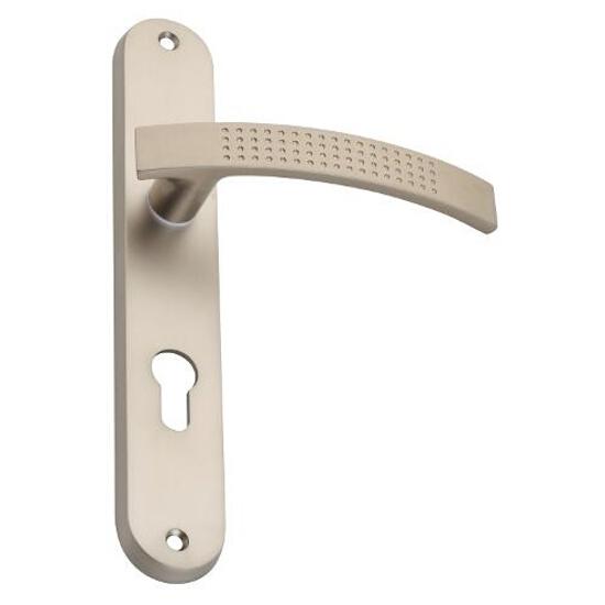 Klamka drzwiowa TALIA szyld długi wkładka nikiel satynowy DH-T-11Y-72-06 Gamet