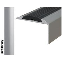 Listwa schodowa Effect Standard A38 z wkładką antypoślizgową srebro 90cm Effector