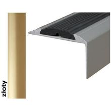 Listwa schodowa Effect Standard A38 z wkładką antypoślizgową złoto 180cm Effector