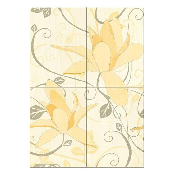 Płytka ścienna Artiga cytrynowa flower 50x70