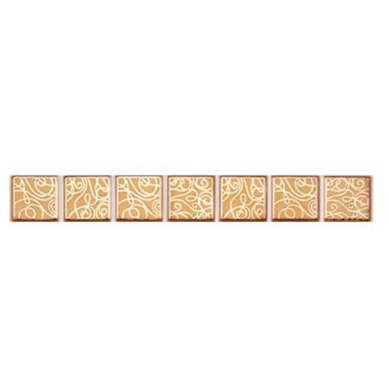 Płytka ścienna Elisa orange geo 25x3