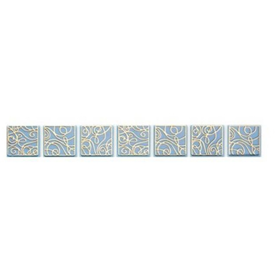 Płytka ścienna Elisa niebieska geo 25x3