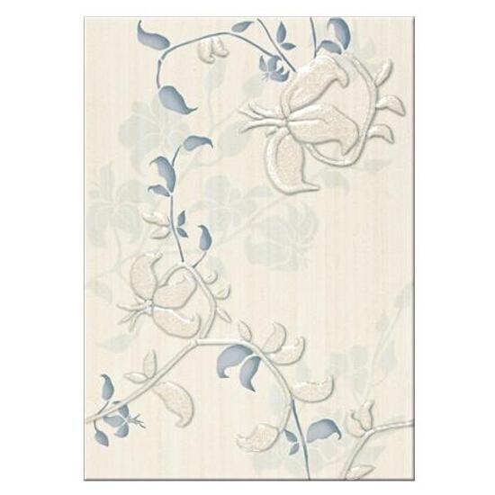 Płytka ścienna centro Elisa niebieskie flower 25x35