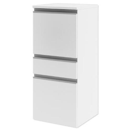 Półsłupek łazienkowy PORTOFINO z drzwiami i szufladą lewy biały 0415-240101 Aquaform