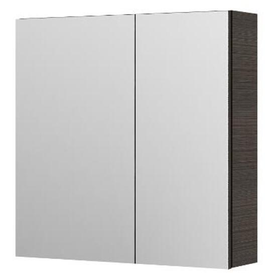 Szafka łazienkowa wisząca z lustrem AMSTERDAM 60 legno ciemne 0408-201611 Aquaform