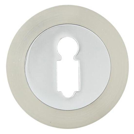 Szyld drzwiowy okrągły 950 klucz chrom/nikiel Domino