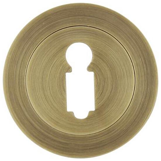Szyld drzwiowy okrągły 950 klucz brąz grafiatto Domino