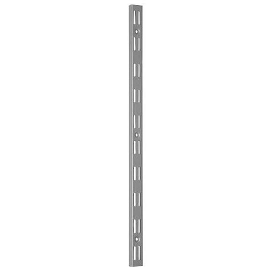 System regałowy podwójny - listwa wspornikowa WLD 1000mm szara Domax