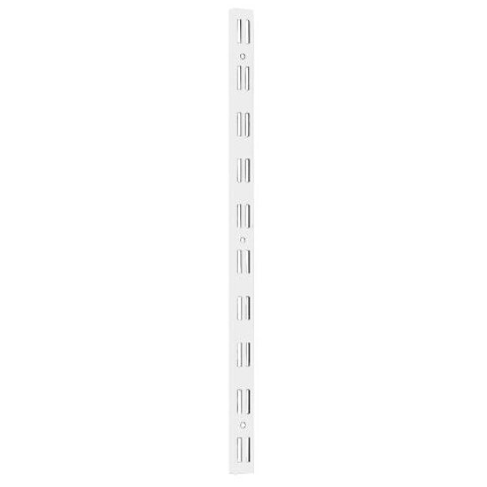 System regałowy podwójny - listwa wspornikowa WLD 2000mm biała Domax