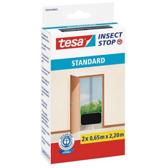 Moskitiera Standard przeciw owadom 2x0,65x2,20m czarna Tesa Tape