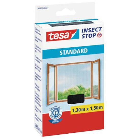 Moskitiera okienna Standard przeciw owadom 1,3x1,5m czarna Tesa Tape