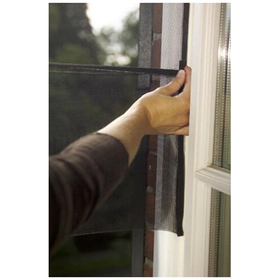Moskitiera do okien podwijana OPEN/CLOSE 1,3x1,5m czarna Tesa Tape