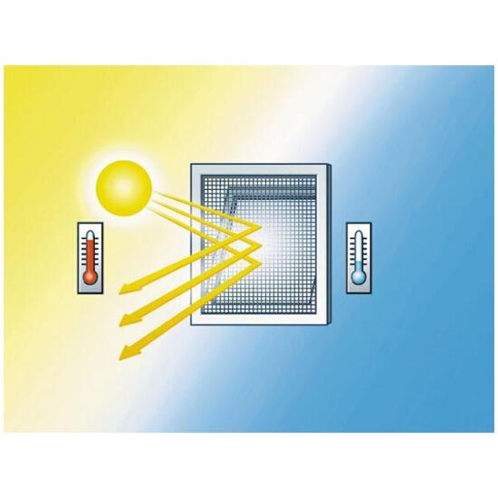 Moskitiera Comfort do okien ochrona przeciwsłoneczna 1,3x1,5m srebrna Tesa Tape