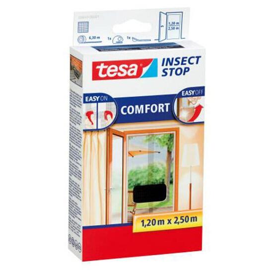 Moskitiera drzwiowa przeciw owadom Comfort 1,2x2,5m czarna Tesa Tape