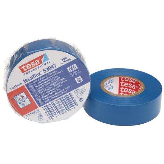 Taśma elektroinstalacyjna 19mmx20m niebieska Tesa Tape