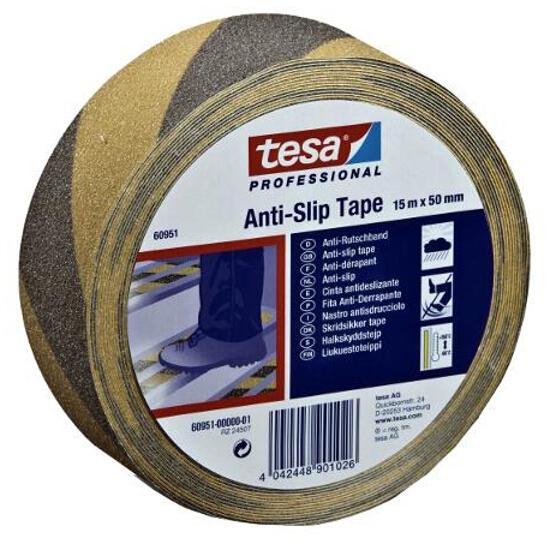 Taśma antypoślizgowa 50mmx15m żółto/czarna Tesa Tape