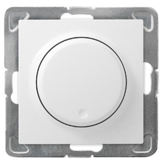 Ściemniacz do modułu IMPRESJA przyciskowo-obrotowy biały Ospel