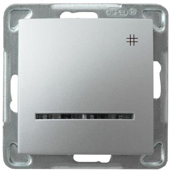 Łącznik modułowy IMPRESJA krzyżowy z podśw. srebro Ospel