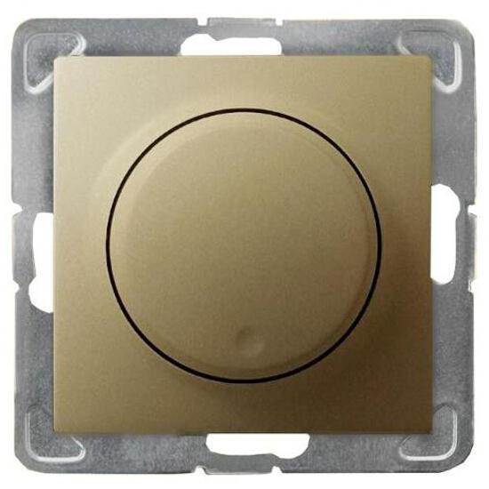 Ściemniacz do modułu IMPRESJA przyciskowo-obrotowy złoty metalik Ospel
