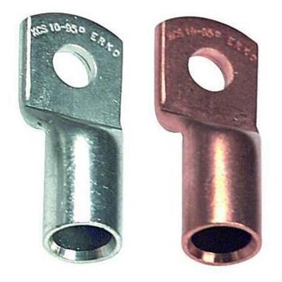 Końcówka kablowa oczkowa tulejkowa miedziana z otworem kontrol. KCS 6-10-K 100szt kablowa Erko