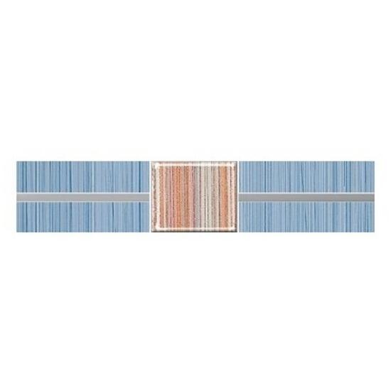Płytka ścienna Organic niebieska techno 25x5