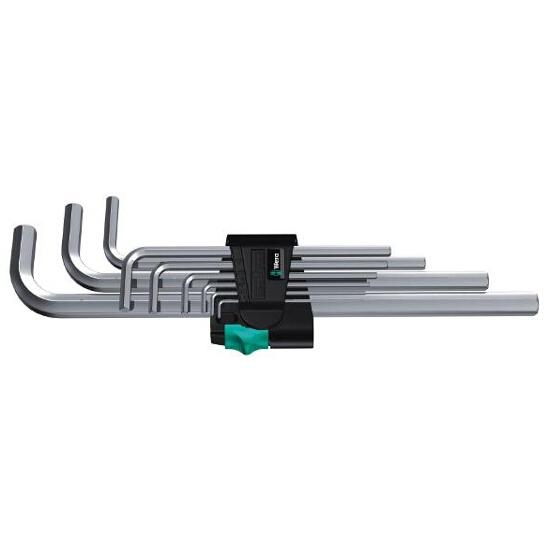 Zestaw kluczy sześciokątnych 9-CZ metryczne 950 L/9 SM N Wera