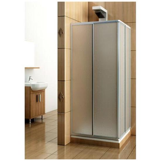 Kabina prysznicowa kwadratowa VARIABEL 80-90 szyba polistyren 101-26910 Aquaform