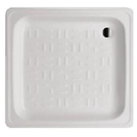 Brodzik kwadratowy MADALENA stalowy emaliowany 80 DC0801200M lub DC0811200M Roca Zoom
