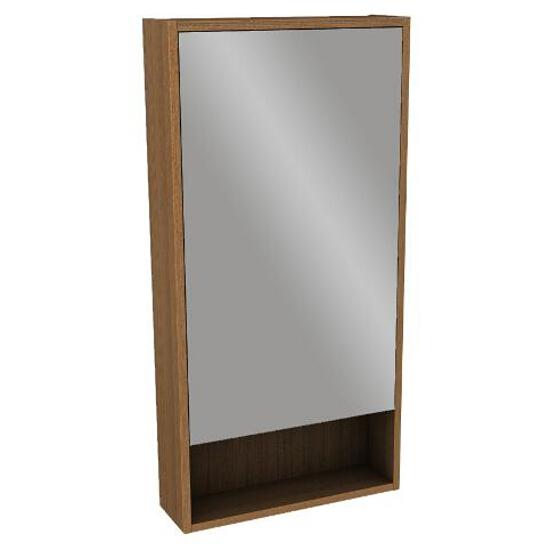 Szafka łazienkowa wisząca z lustrem OVUM/EGO by Antonio Citterio 45x90x13,5cm teak 88328000 Koło