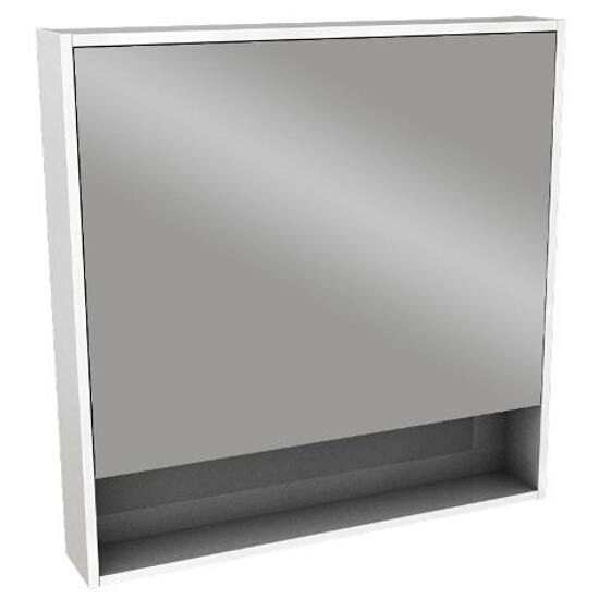 Szafka łazienkowa wisząca z lustrem OVUM/EGO 80x80x13,5cm biały połysk 88334000 Koło