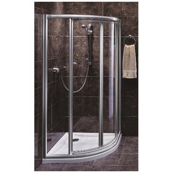 Kabina prysznicowa półokrągła AKORD 90x90cm szkło hartowane, półmat Reflex RKPG90R22005 Koło